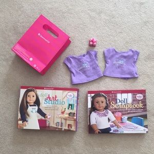 American girl activity books & doll clothes